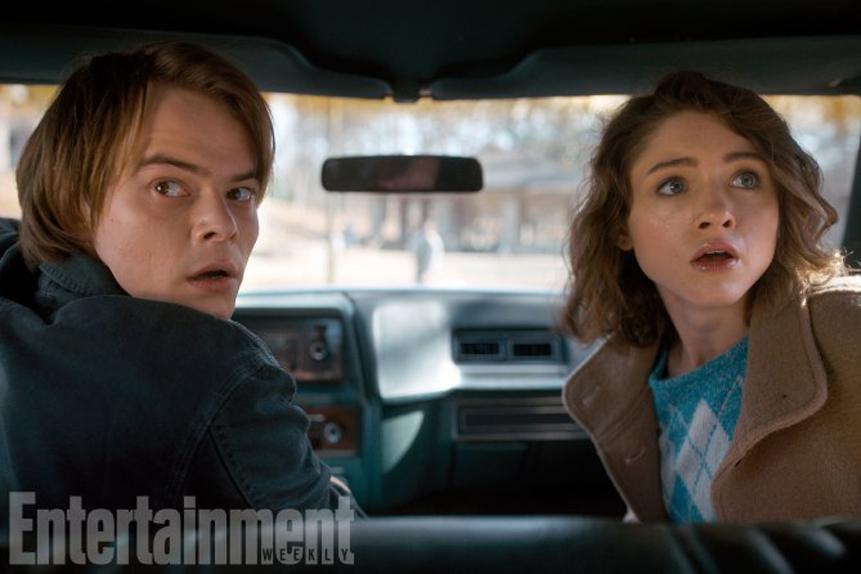 Nancy (Natalia Dyer) et Jonathan (Charlie Heaton)