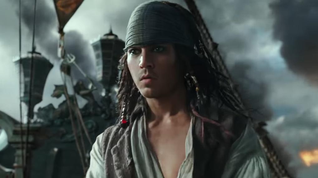 """Johnny Depp dans """"Pirates des Caraïbes : La Vengeance de Salazar"""" (2017)"""