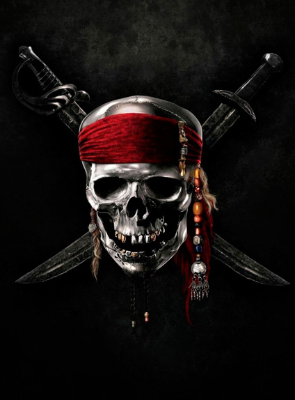 Le logo officiel de la franchise Pirates des Caraïbes