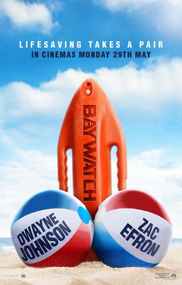 """Baywatch : Alerte à Malibu"" avec Dwayne Johnson et Zac Efron"