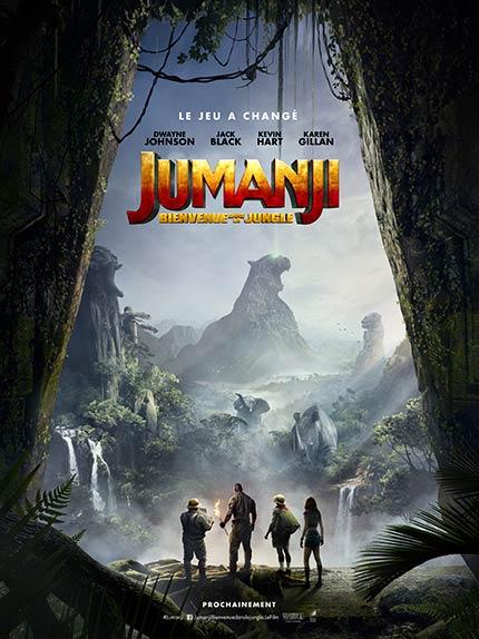 """Jumanji : Bienvenue dans la jungle"" avec Dwayne Johnson, Jack Black, Kevin Hart ..."