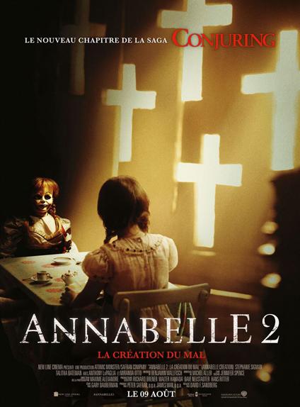 N°2 - Annabelle 2 la Création du Mal : 15,5 millions de dollars de recettes