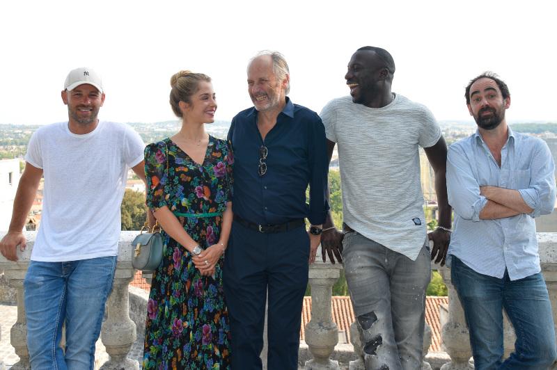 Franck Gastambide, Alice Isaaz, Hippolyte Girardot, Moussa Mansaly et Christophe Régin