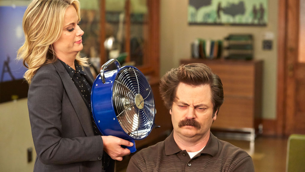 """Leslie et Ron dans """"Parks and Recreation"""""""
