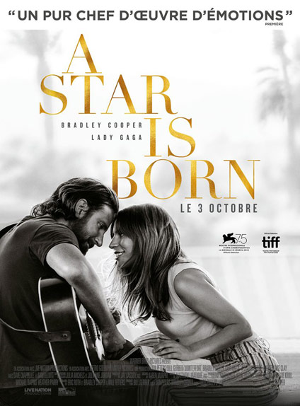 N°3 - A Star Is Born : 286 268 entrées