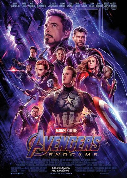 N°1 - Avengers : Endgame - 2,790 milliards de dollars de recettes