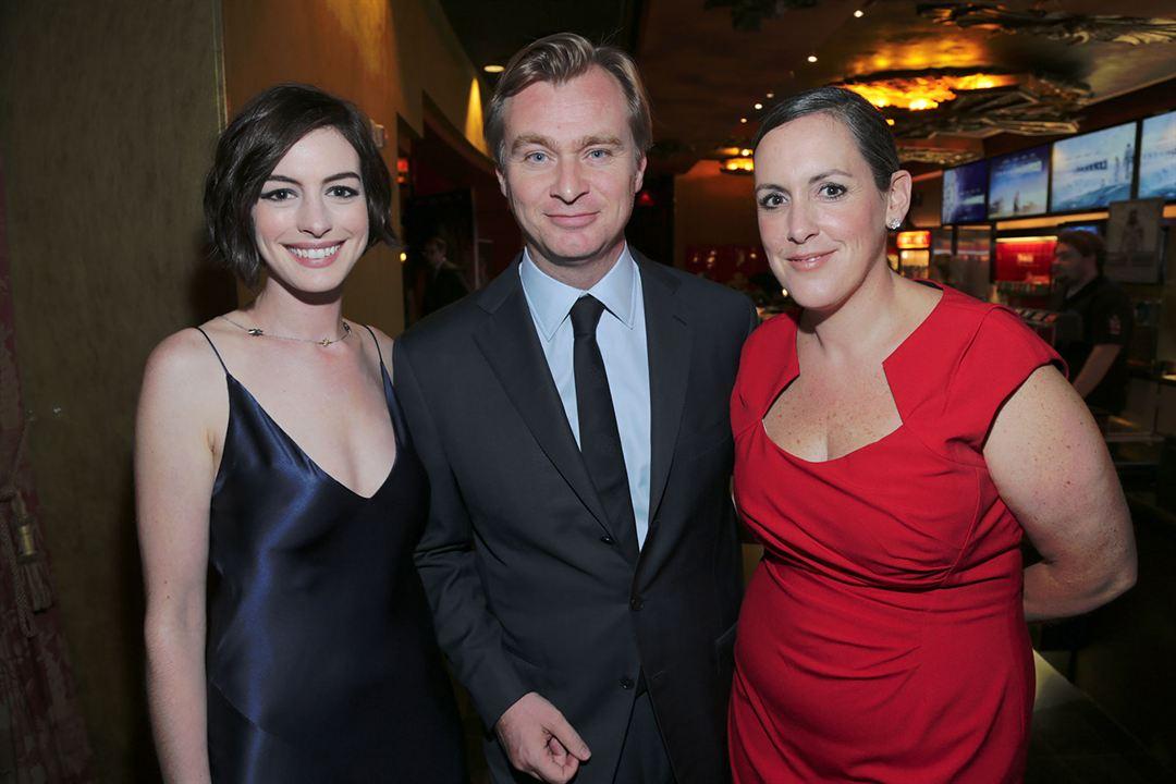 Interstellar : Photo promotionnelle Anne Hathaway, Christopher Nolan, Emma Thomas
