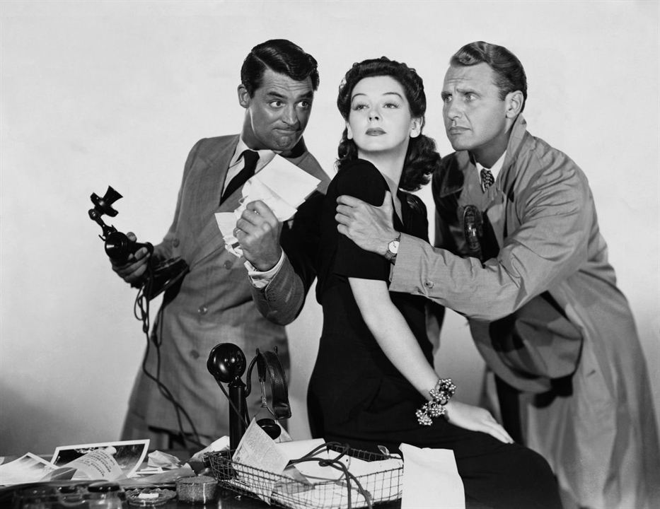 La Dame du vendredi : Photo Cary Grant, Ralph Bellamy, Rosalind Russell