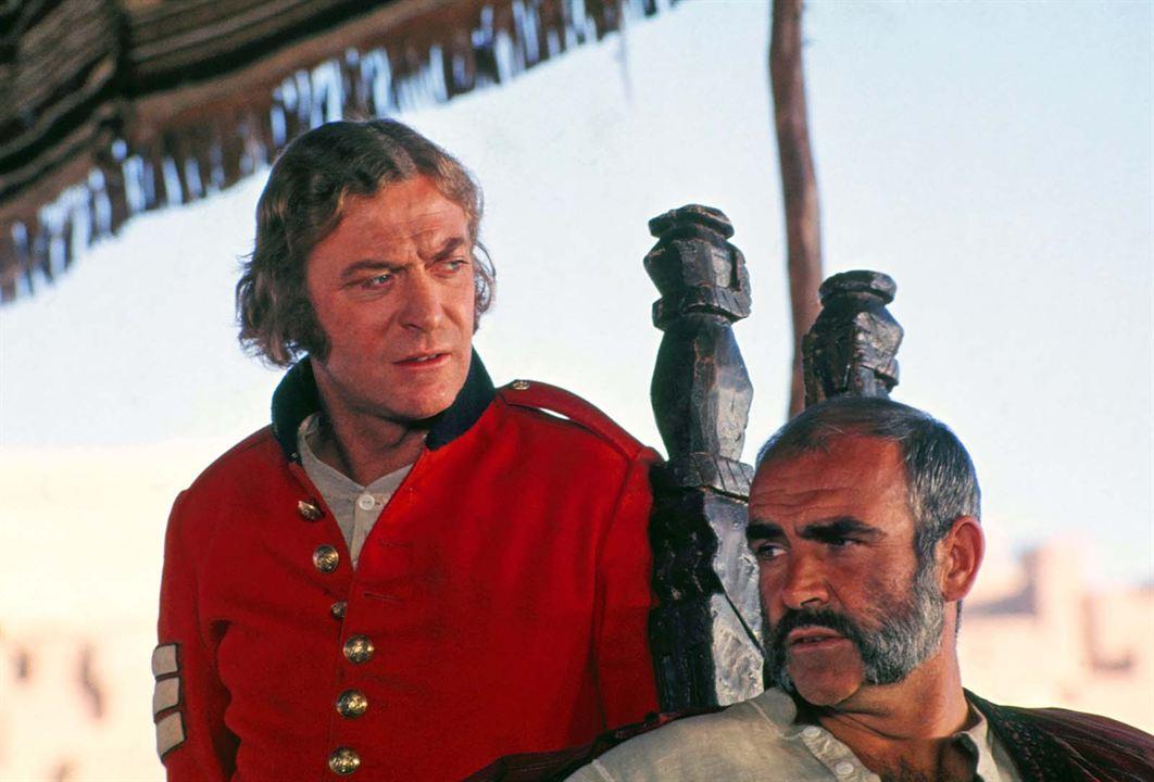 L'Homme qui voulut être roi : Photo Michael Caine, Sean Connery