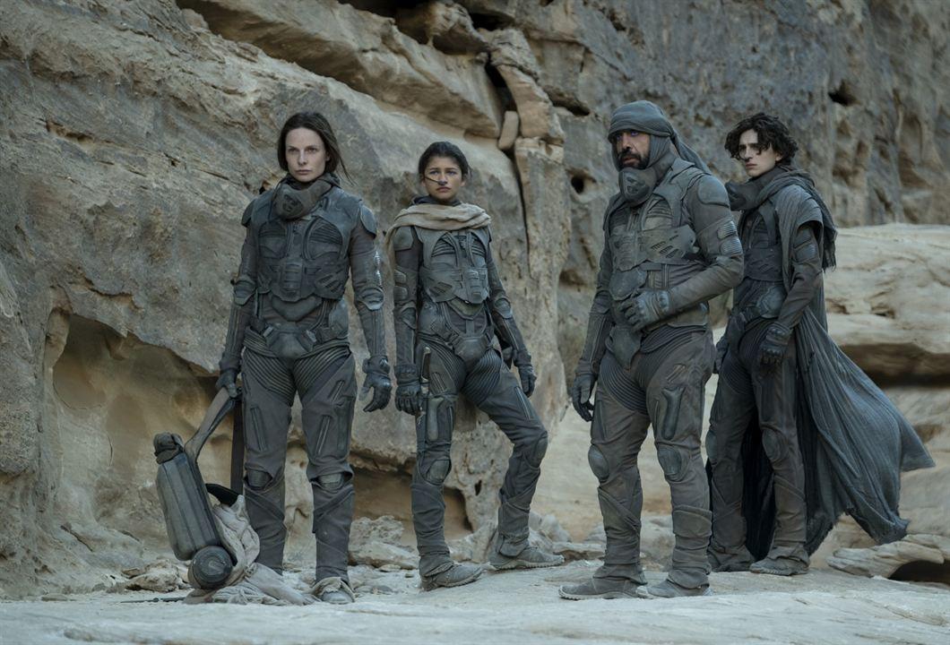 Dune: Timothée         Chalamet, Javier         Bardem,          Zendaya, Rebecca         Ferguson