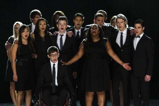 Photo Amber Riley, Chord Overstreet, Chris Colfer, Darren Criss, Harry Shum Jr.